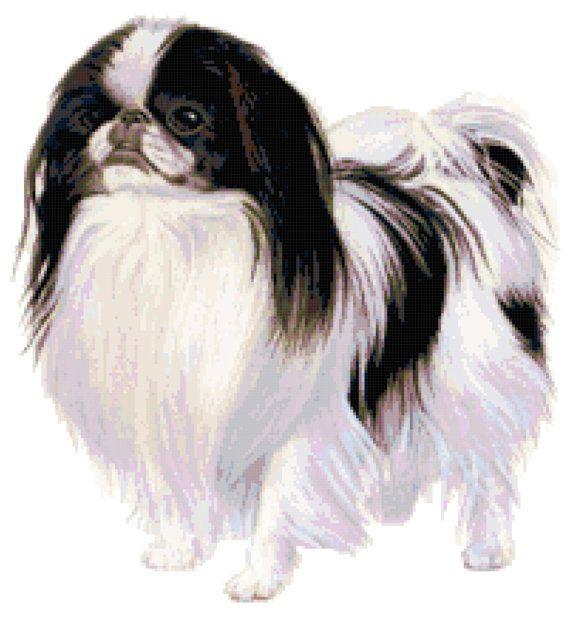 Japanese Chin Dog Custom Designed Counted Cross By Needleworkshop 6 50 Japanese Chin Dog Japanese Chin Dogs