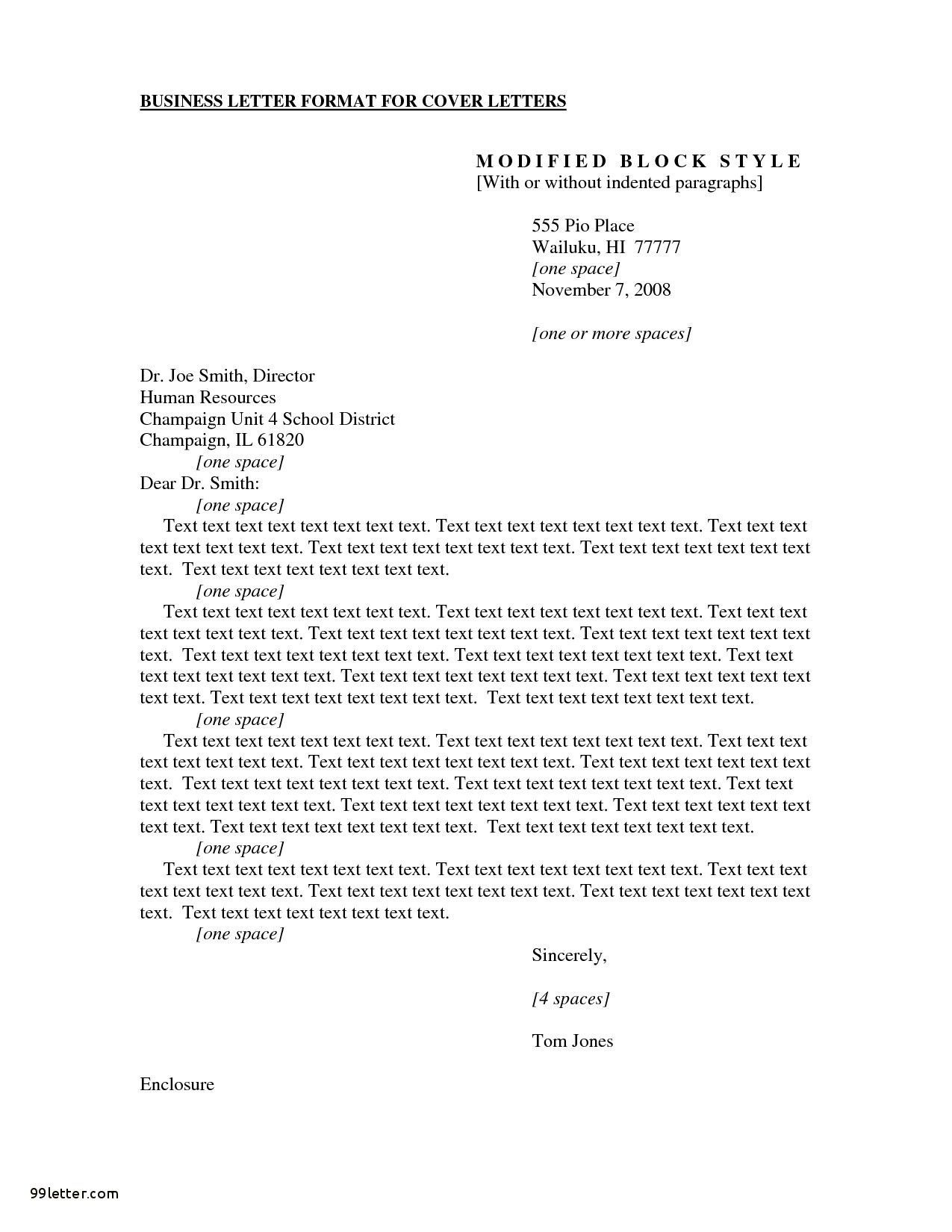 Cover Letter Template Apa Style Cover Letter Format Business Letter Format Cover Letter Example