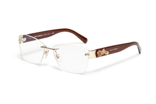 eaa15215d3c Dolce   Gabbana Ophthalmic Eyewear  Model DG 1241 - Women Eyeglasses for  Barocco Special Collection. Square Frame in Transparent Bordeaux.