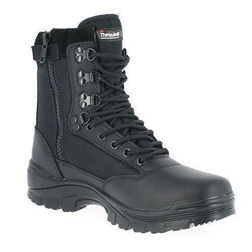 Mil-Tec Hombres Tactical Zipper Boots Marrón tamaño 9 UK / 43 EU 4xF4o8d