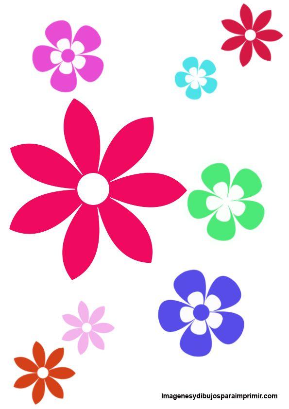 flores de colores para recortar e imprimir - Buscar con Google ...