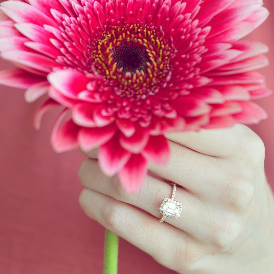 True love blooms. #BrilliantEarth #engagementring #diamond ...