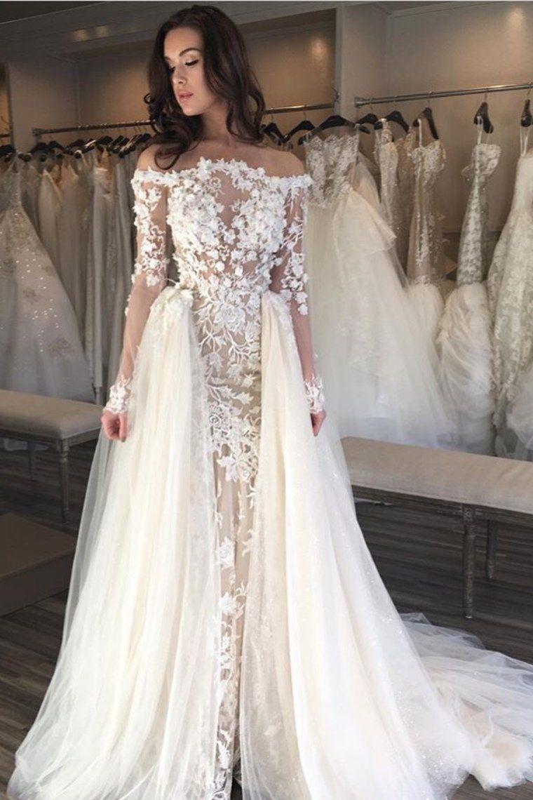 Elegant prom dress 2019 wedding dresses boat neck sheath