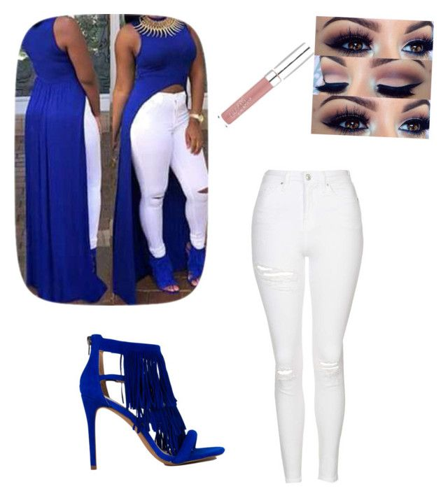 """""""Blue"""" by layyy-layyy on Polyvore featuring Topshop and Steve Madden"""