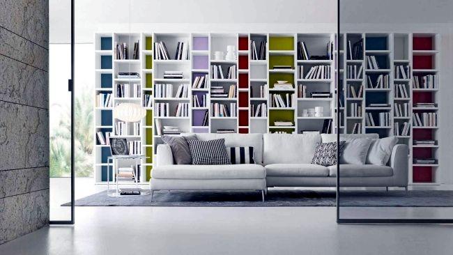 Bookshelf systems from Presotto Italia - a highlight in the living - bucherregal systeme presotto highlight wohnraum