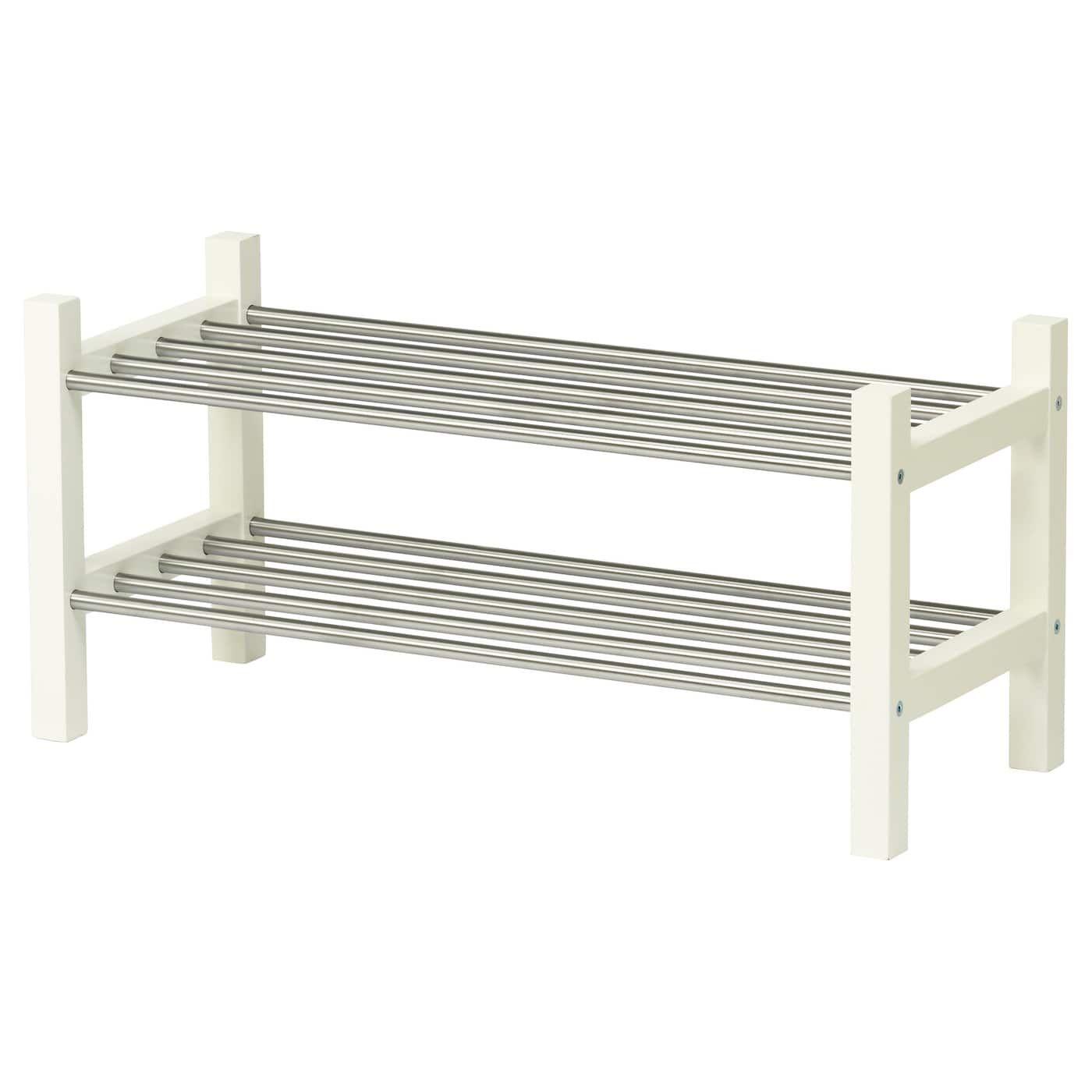 Tjusig Shoe Rack White 31 1 8 Ikea Shoe Ikea Bench With Shoe Storage
