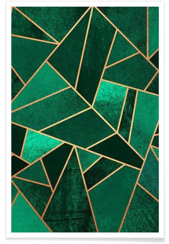 Emerald And Copper En Affiche Premium Par Elisabeth Fredriksson
