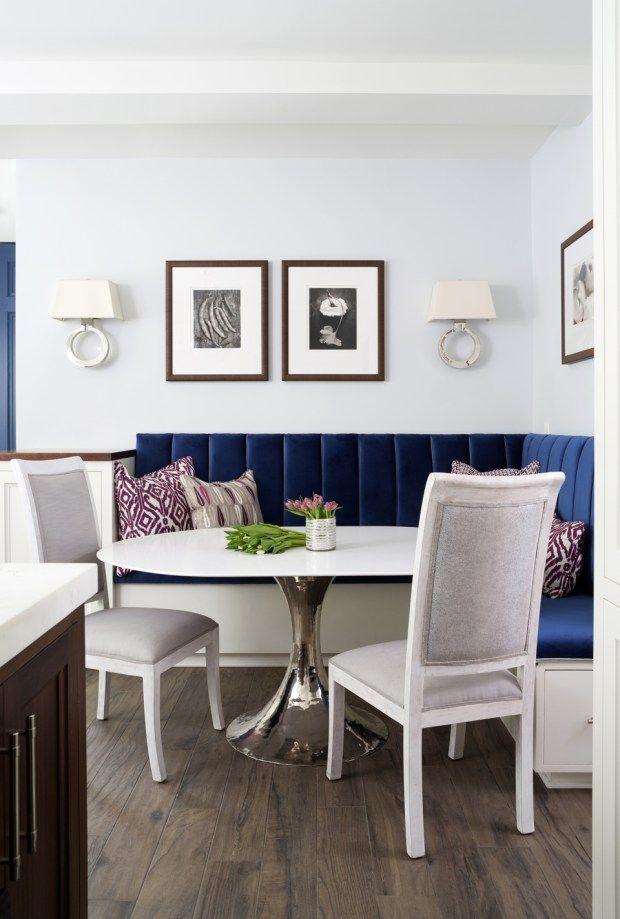 Beautiful breakfast nook by ella scott design via sarahsarna
