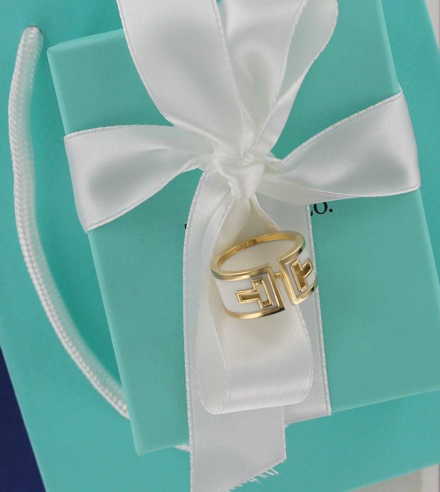 312e3d6d90d70 Tiffany & Co. 18kt Ceramic T Ring Size 7 #TiffanyCo #Band | Tiffany ...