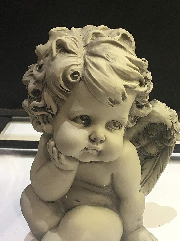 engel armaros engelchen engelfigur gartenfigur grabfigur grabschmuck besonders als dekoration. Black Bedroom Furniture Sets. Home Design Ideas