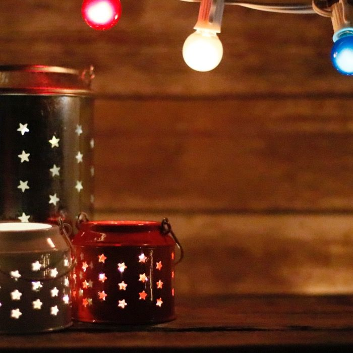 Warm White Micro LED Battery Lights Red, White, and Blue