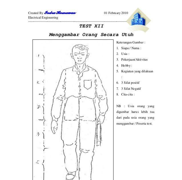 38797262 Psikotest Kunci Jawaban Psikotes Menggambar Orang Psikotes Dunia Kerja Kumpulan Ilmu Dan Pengetahuan Penting Contoh S Cara Menggambar Gambar Orang