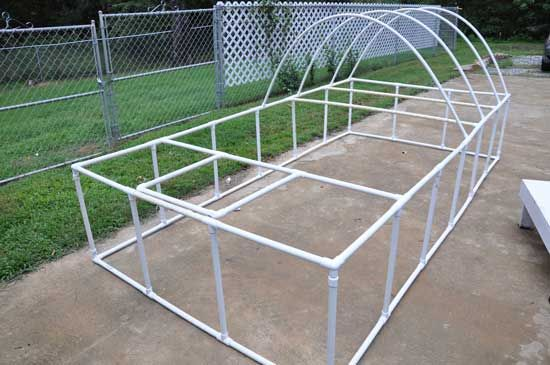 easy plans for a pvc chicken tractor with tarp for shade lightweight and easy to
