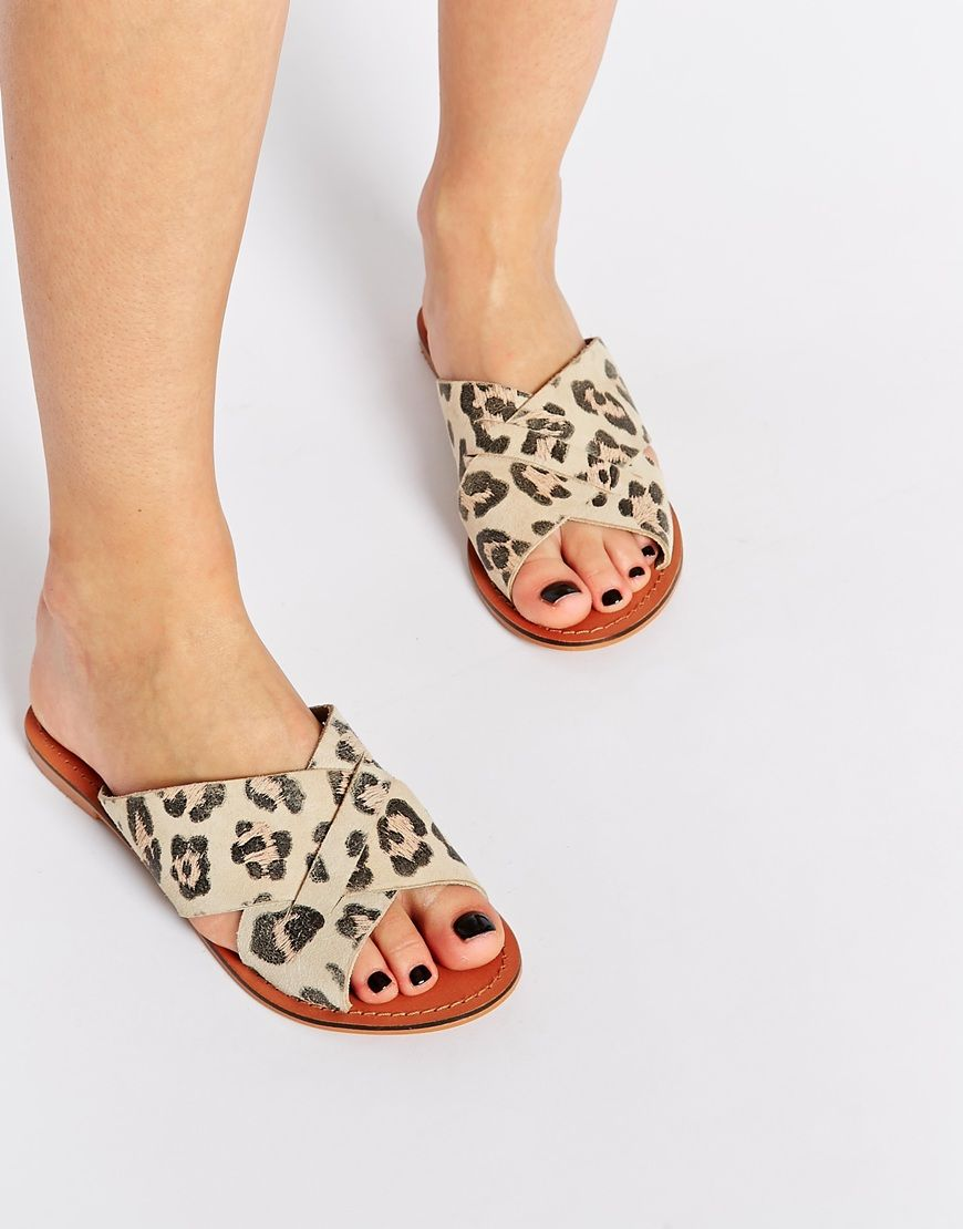 FLICK Leather Sliders | Shoes | Shoe boots, Asos, Shoes