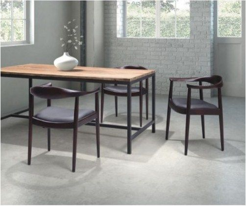 Zuo Modern Greenwich Chair Dark Walnut Black Cushion Set Of 2