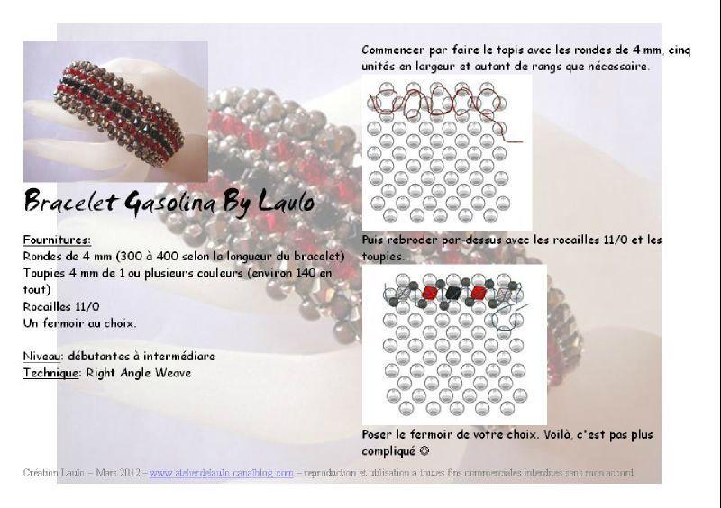 Pattern bijoux: Bracciale Gasolina