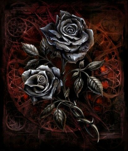 Egorian S Black Roses Gothic Wallpaper Gothic Images Rose Art