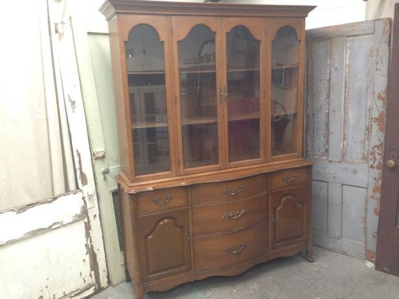 Custom Paint French Provincial Dining Room Hutch Painted