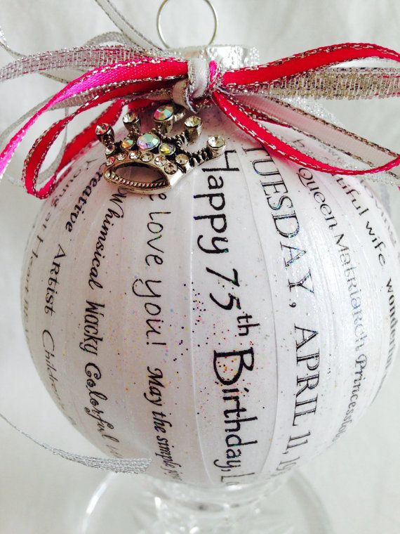 Birthday Gift - Unique, Elegant and Personalized Ornaments (Handmade for You) on Etsy, $40.00