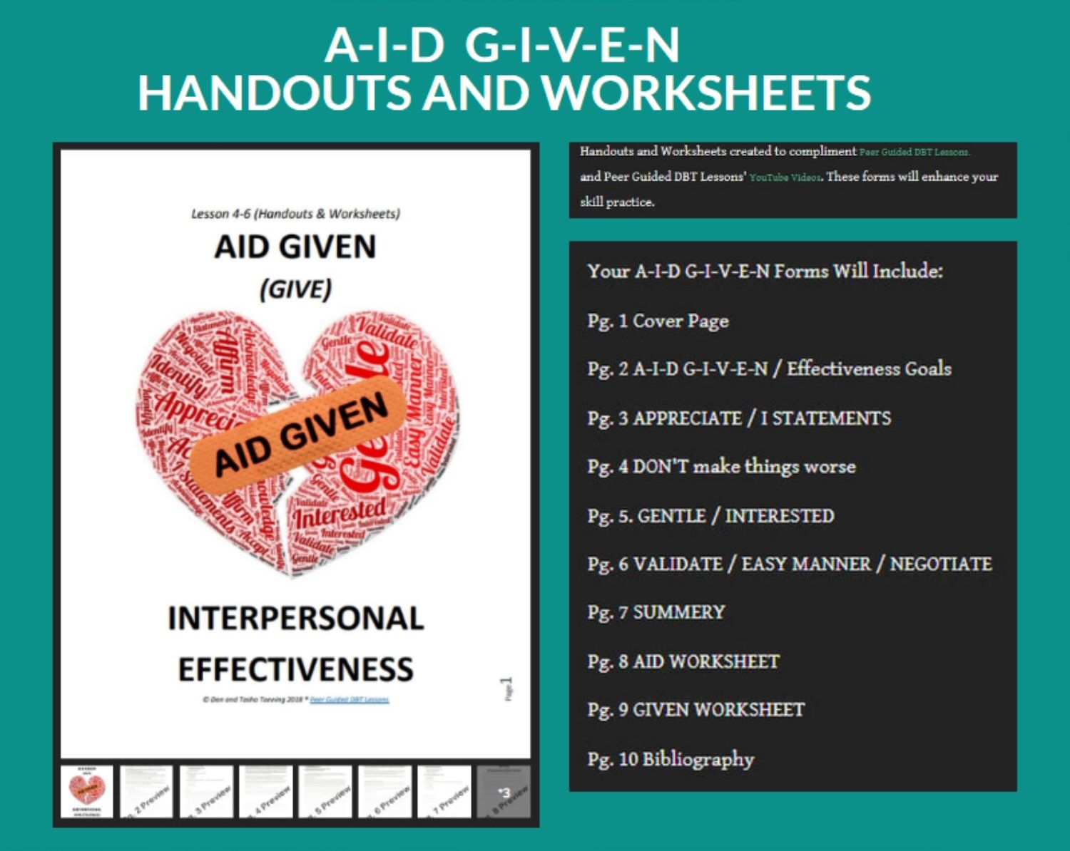 Dbt Lesson 4 6 Interpersonal Effectiveness Aid Given G