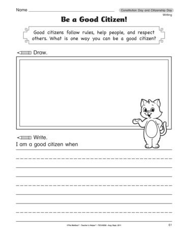 001 Be a Good Citizen!, Lesson Plans The Mailbox … Social