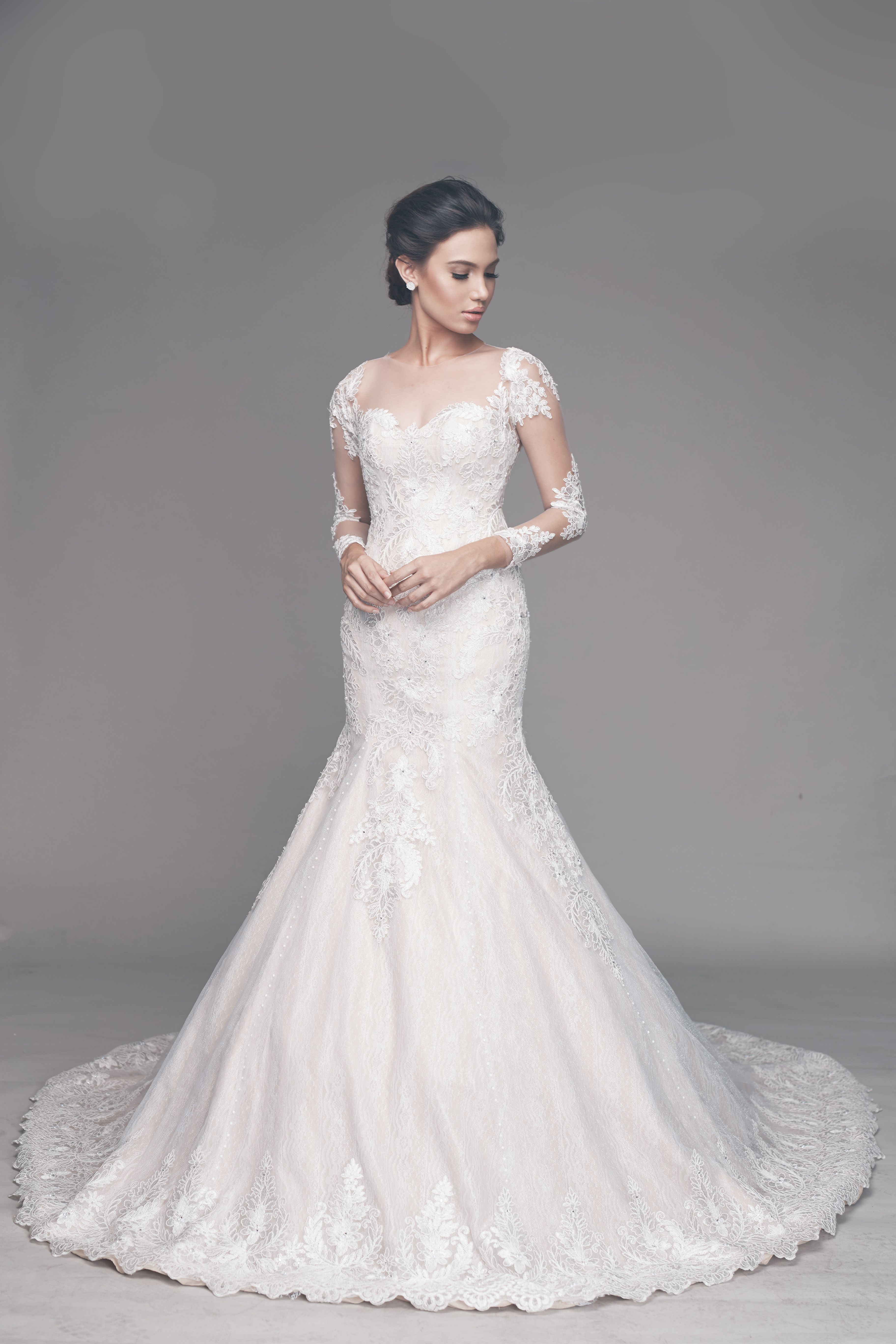 Classy Wedding Gown Lace Wedding Gown Bridal Gown Mermaid Cut Wedding Gown Serpentina