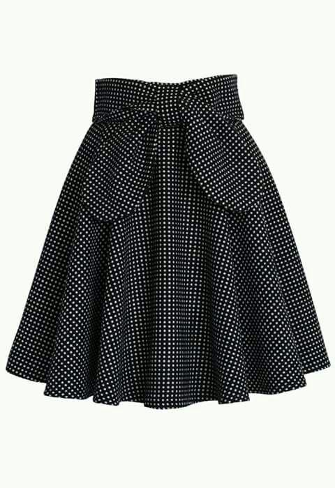 add9eb9642 Falda#4 | Faldas in 2019 | Moda faldas, Atuendo, Falda con lazo