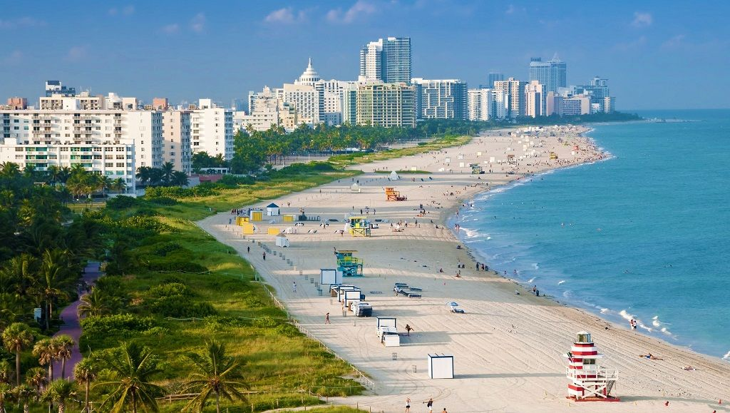 Miami Beach es la t pica playa de Miami Est dividida en tres – Miami Beach Tourist Map