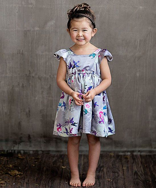 9426f444c899f Purple Floral Emma Dress - Toddler & Girls | Products | Toddler girl ...