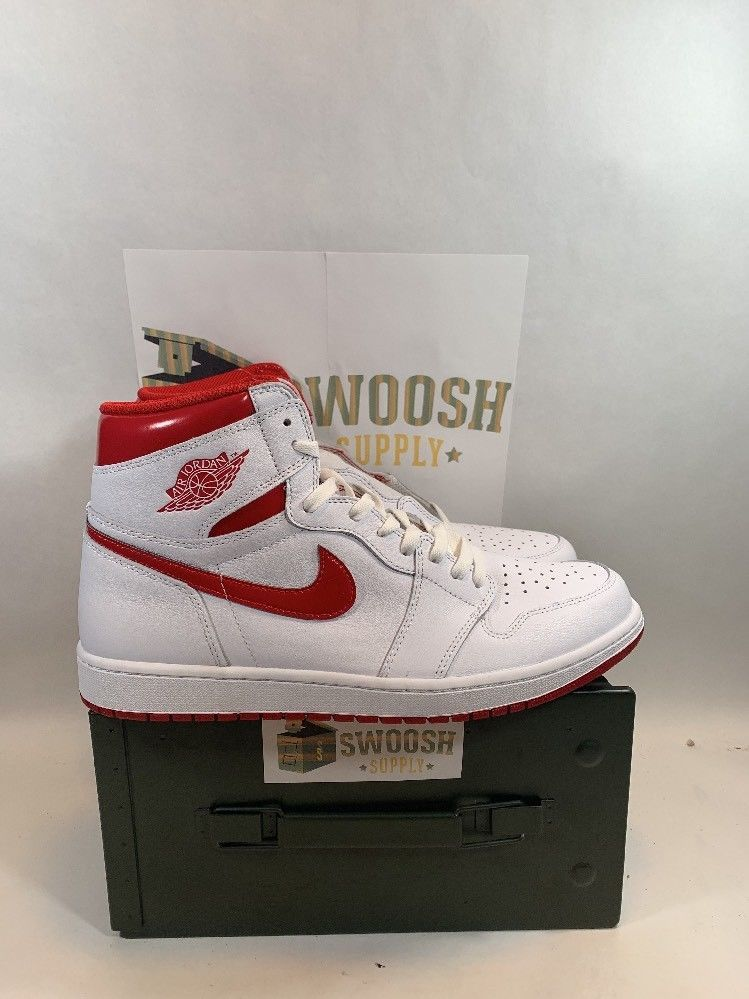 254ebb2f77d Nike Air Jordan 1 Retro High OG White Metallic Red size 13 555088-103 bred  chi  Nike  AthleticSneakers