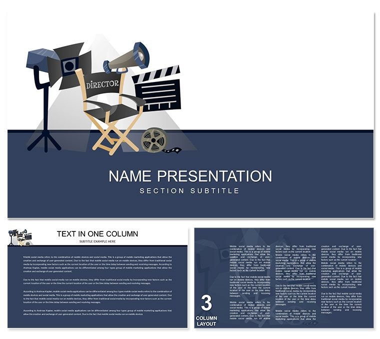 Video Production PowerPoint Template   Powerpoint Templates, Powerpoint,  Templates