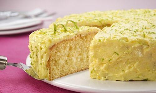 Receita de bolo de limão para festa