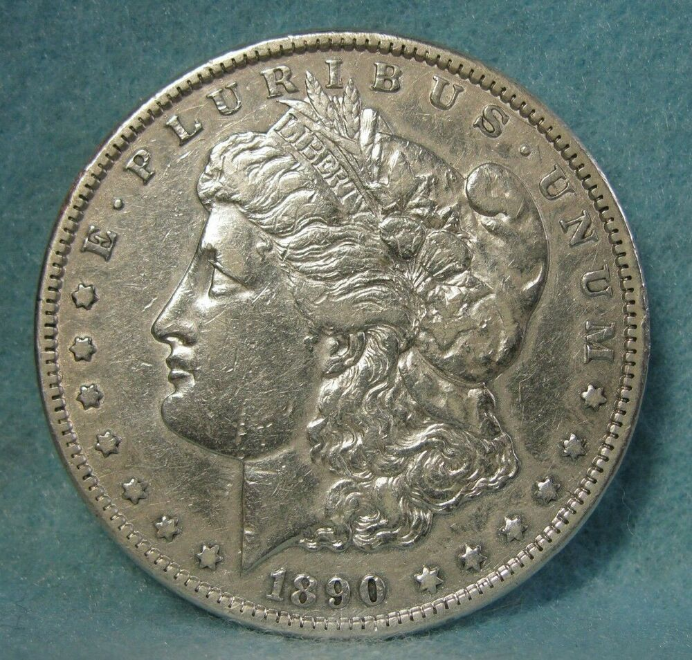 1890 Cc Carson City Mint Morgan Silver Dollar Vf Xf Us Coin Morgan Silver Dollar Coins Carson City