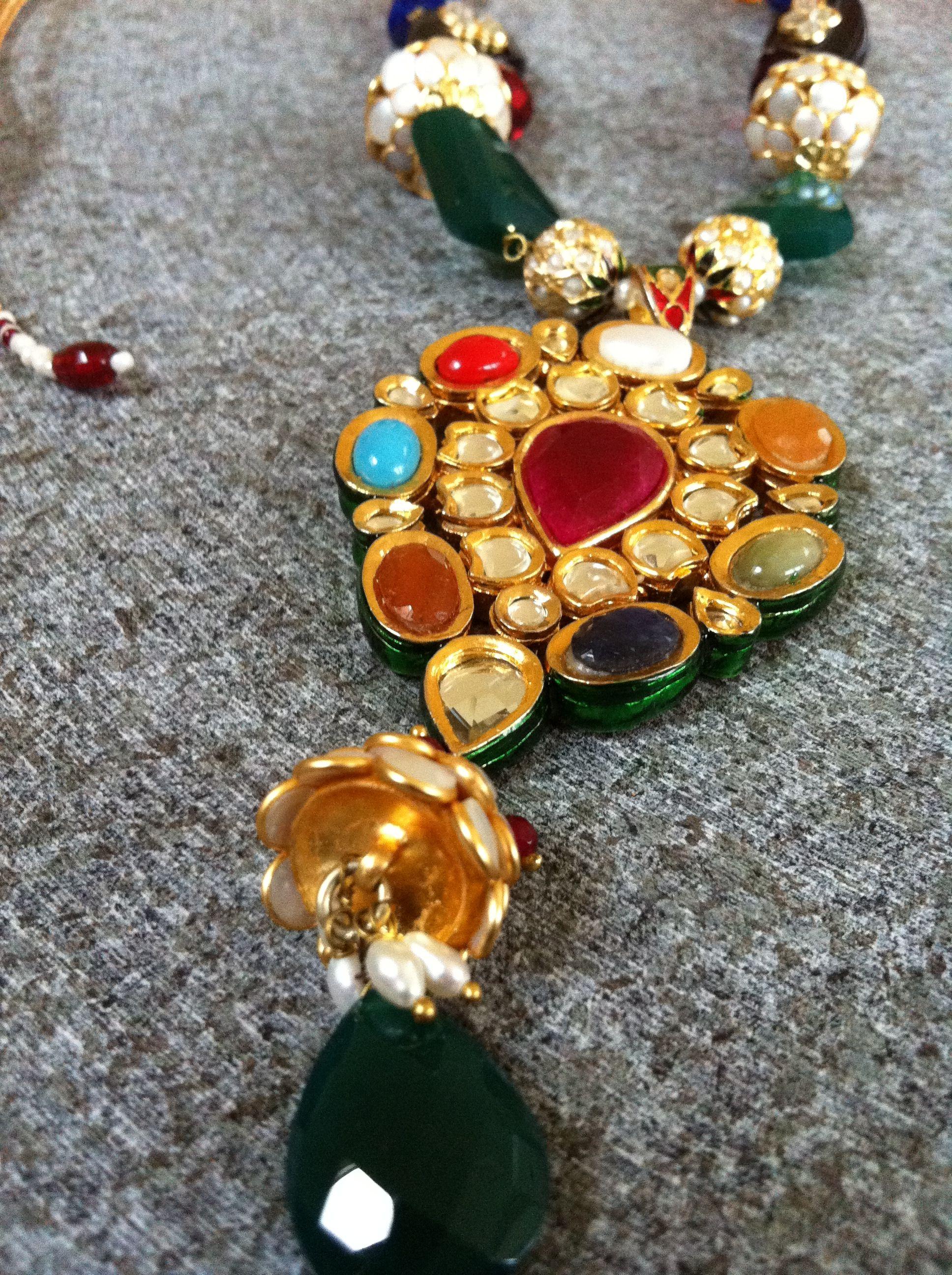 Navratna necklace wedding ideas pinterest jewel and weddings