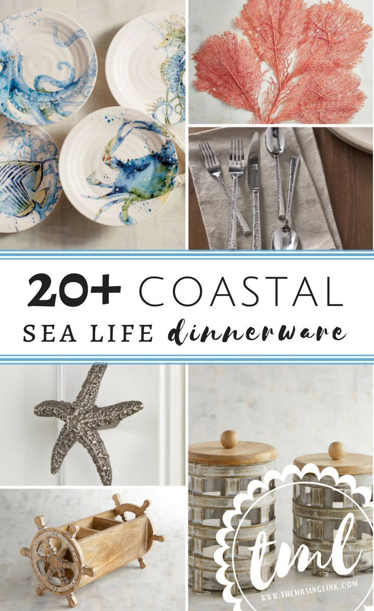 20 Gotta Have It Coastal Sea Life Dinnerware Accessories Home Decor For Your Kitchen And Dining Room Acces