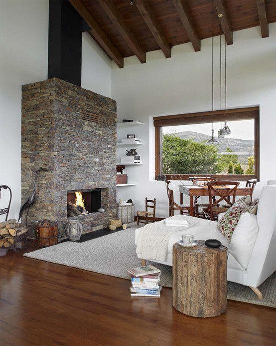 Estilo r stico renovado estilo r stico n rdico decoraci n for Casa moderna rustica
