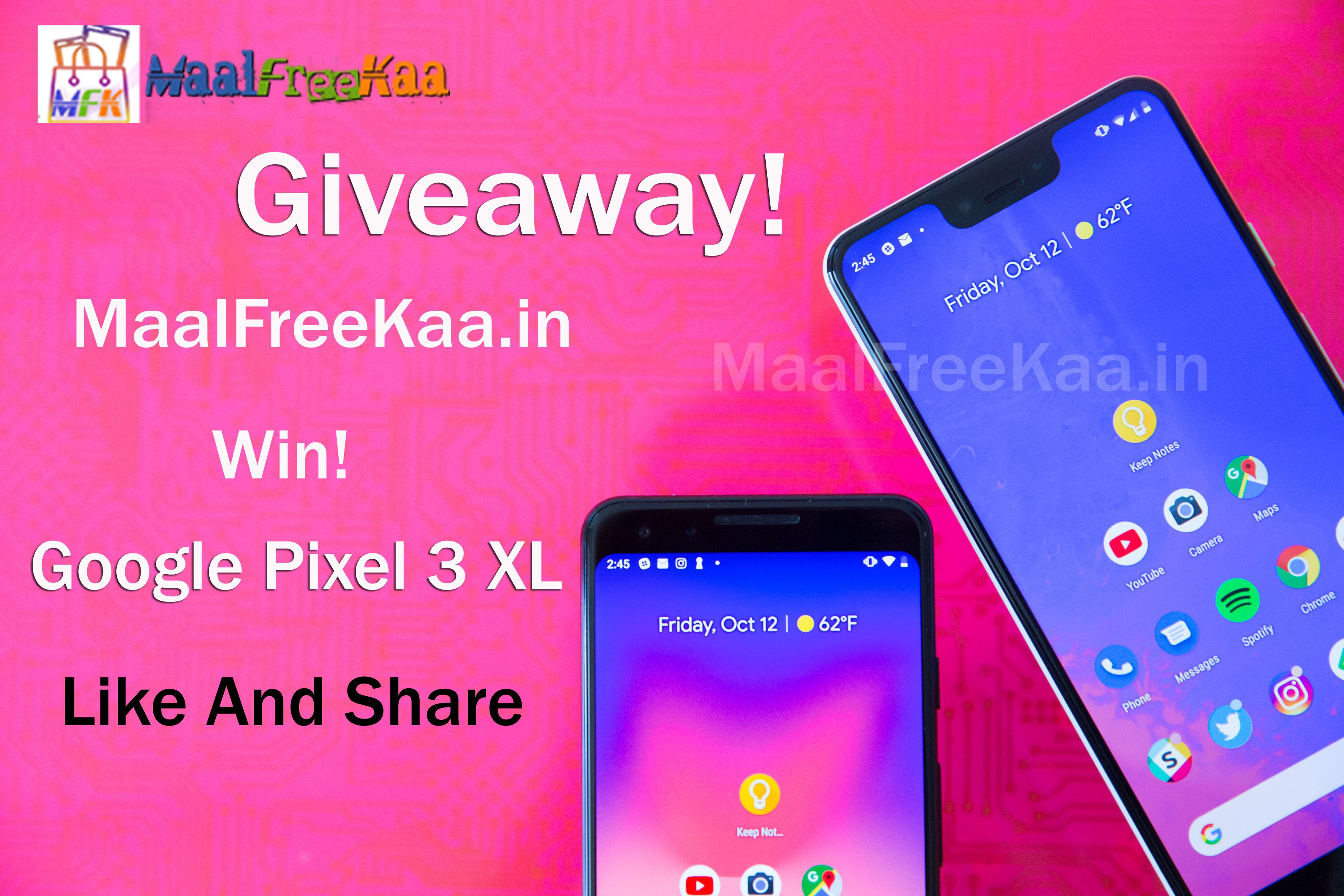 Google Pixel 3 XL Android Smartphone Giveaway Android