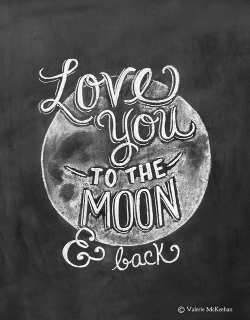 Love you to the moon and back | We Heart It