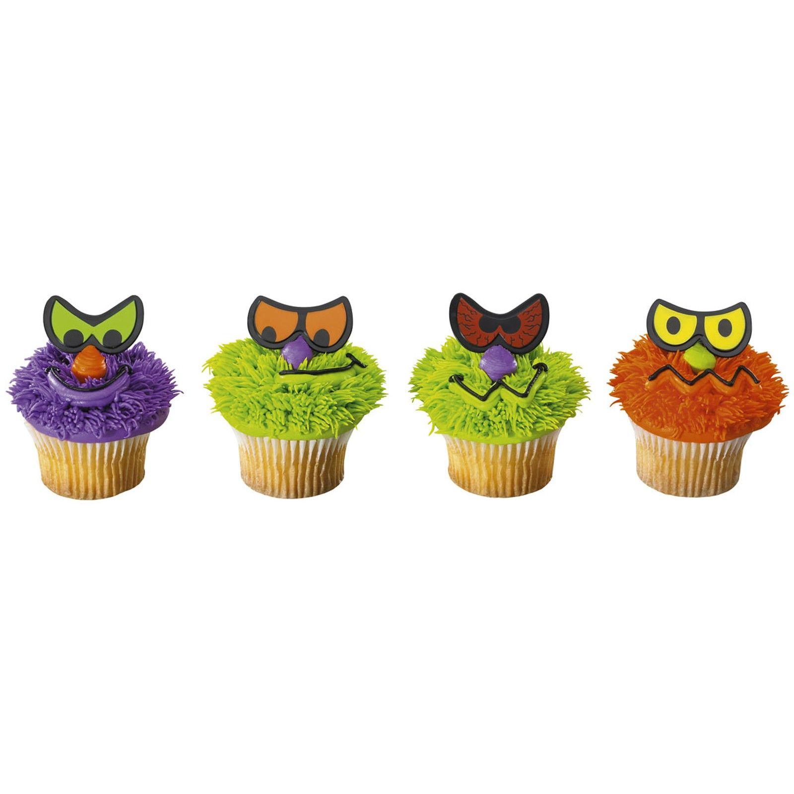 scary eyes cupcake rings