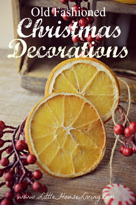 Cute And Rustic Old Fashioned Christmas Decorations For Your Christmas  Tree. Great, Simple,