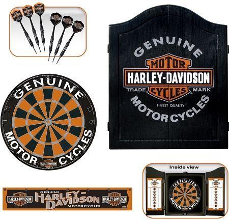 Superieur Harley Davidson Trademark Dartboard Cabinet Kit
