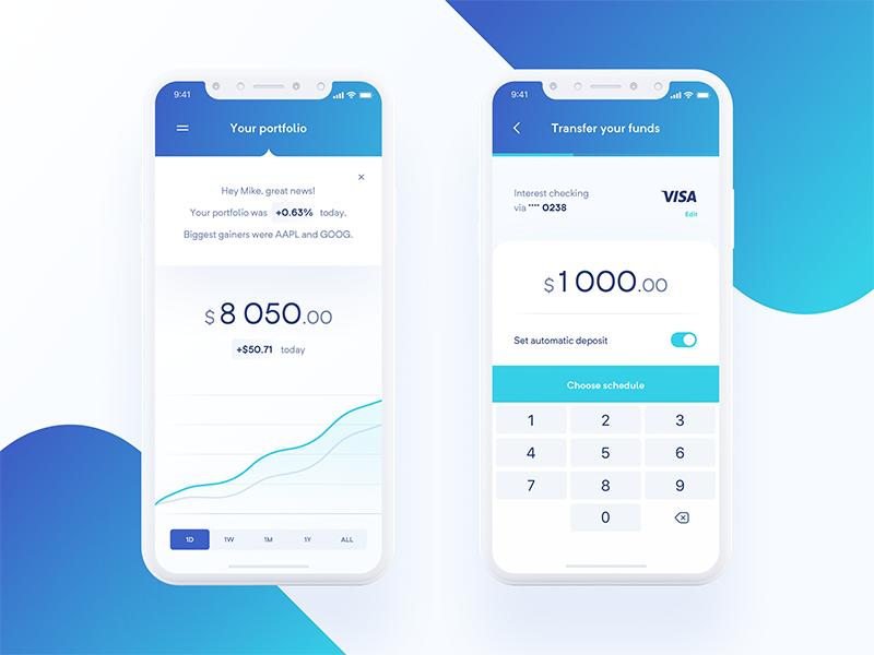 Hedge Fund App Portfolio Transfer Mobile App Banking App Mobile App Design
