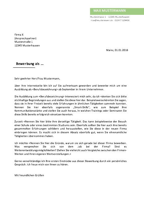 Nett Musterbriefe Referenz Galerie - Bilder für das Lebenslauf ...