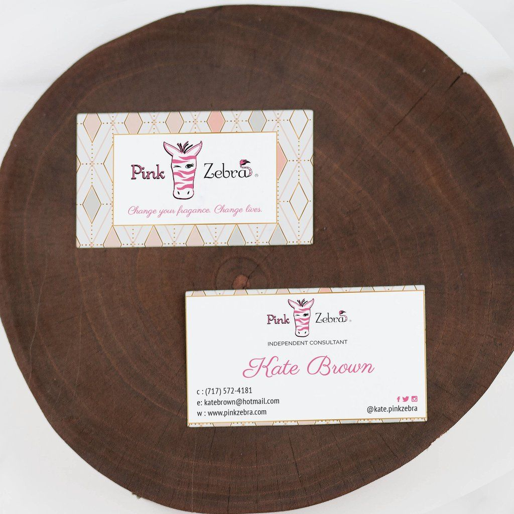 Pink Zebra Business Cards Personalized Pink Zebra Template Pz03 Pink Zebra Cards Arbonne Business Cards