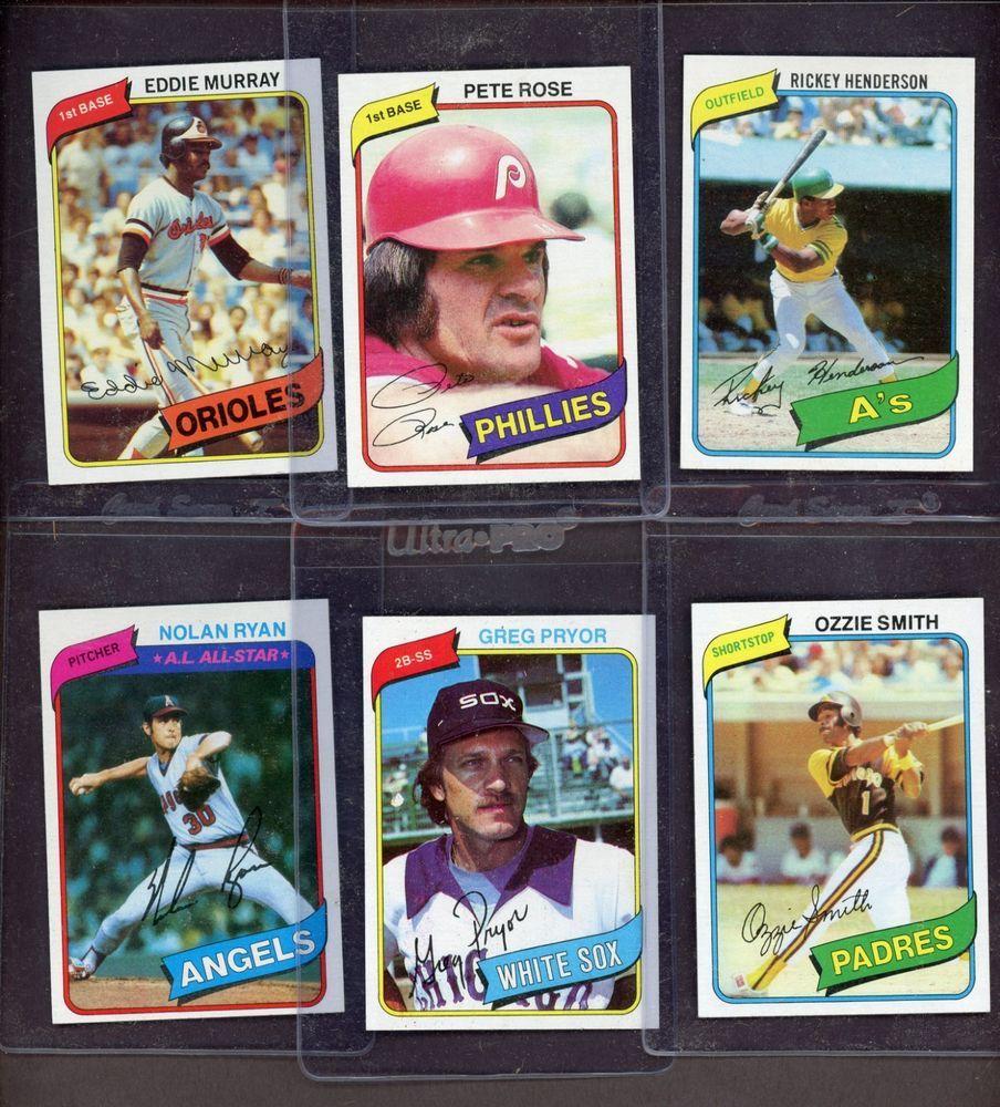 1980 Topps Baseball Complete Set 726 W Rickey Henderson