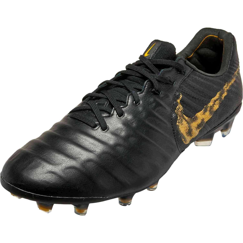Nike Tiempo Legend 7 Elite Fg Black Lux In 2020 Nike Soccer Shoes Nike Soccer Soccer Gear