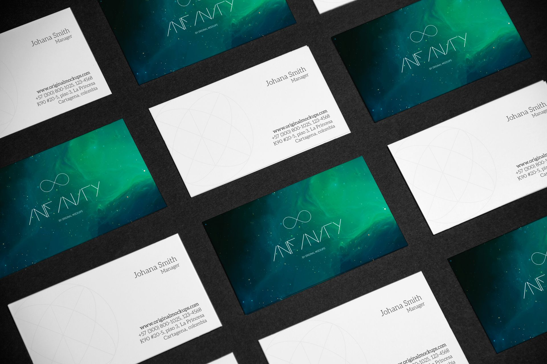 Grid Business Cards Mockup- Infinity by Original Mockups http ...