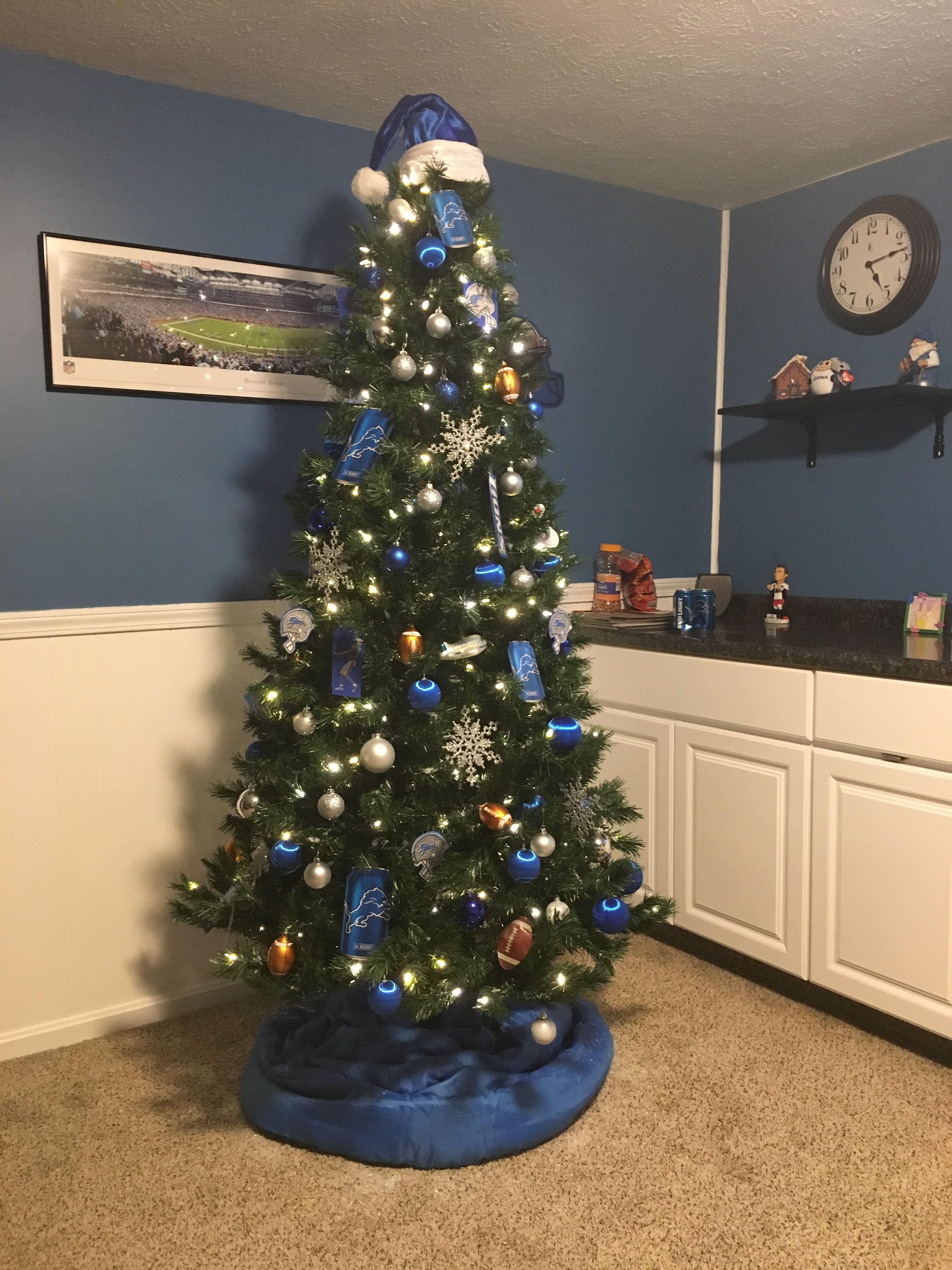 ea8e61be Tim's Detroit Lions Christmas Tree | Detroit lions | Detroit lions ...