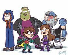 Los Chicos De La Cabana Del Misterio Como Los Jovenes Titanes Gravity Falls Un Verano De Misterio Dibujos Animados Dibujos Bonitos De Animales