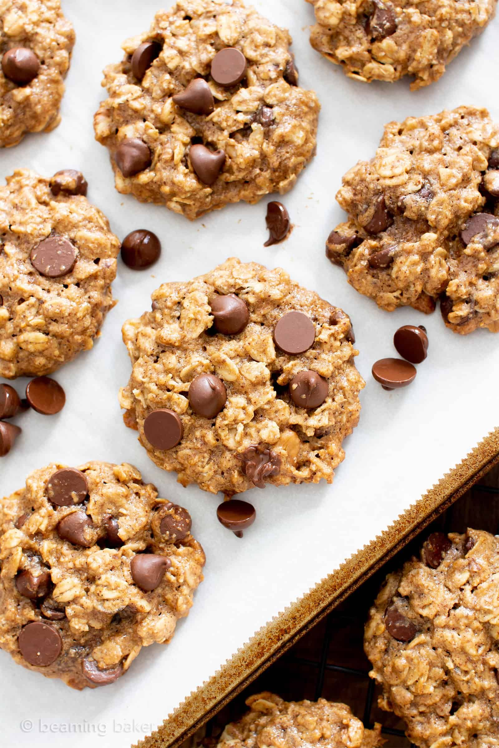 Chewy Healthy Oatmeal Chocolate Chip Cookies V Gf My Favorite